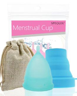 Menstruační sada s kalíškem Spequix v modré barvě