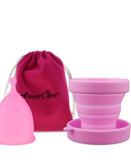 Menstruační sada Aneercare s kalíškem velikosti S (růžový kalíšek)