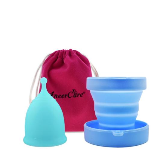 Menstruační sada Aneercare s kalíškem velikosti L (modrý kalíšek)