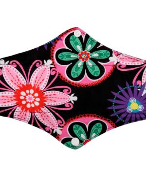 Látková intimní vložka se vzorem barevné květiny Lecy
