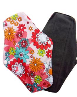 Látková intimní vložka s barevným květinovým vzorem Lecy