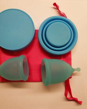Menstruační sada Aneercare Sport s kalíšky S a L (modrý kalíšek)