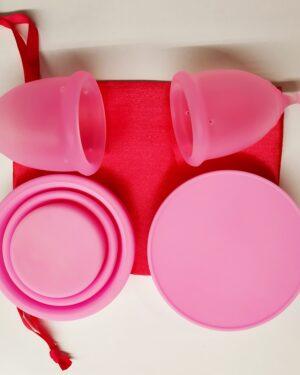 Menstruační sada Aneercare Sport s kalíšky S a L (růžový kalíšek)
