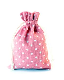 Sáček na menstruační kalíšek (růžový s putníky)