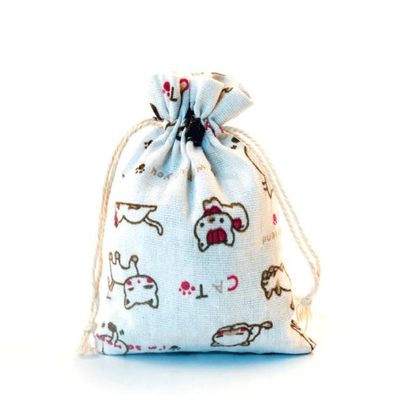 Sáček na menstruační kalíšek (vzor kočka)